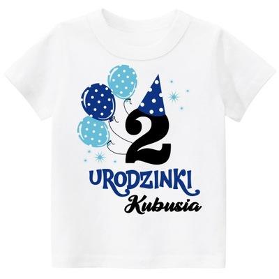 Koszulka URODZINY 2 LATA z imieniem dziecka r. 98