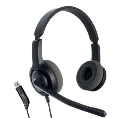 Axtel Voice USB28 duo NC - Słuchawka z mikrofonem