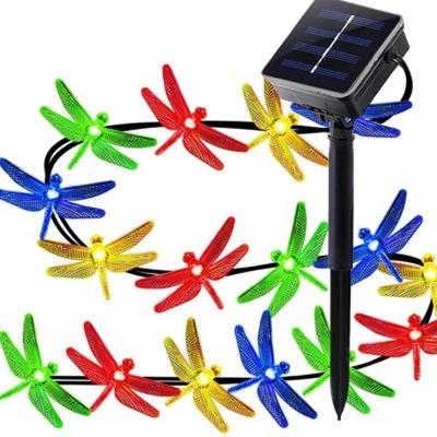 30LED Żarówka Lampa Lampki Solarne Ogrodowe 6M