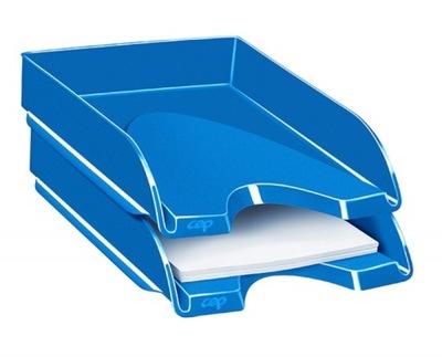 Szufladka na biurko niebieska tacka półka