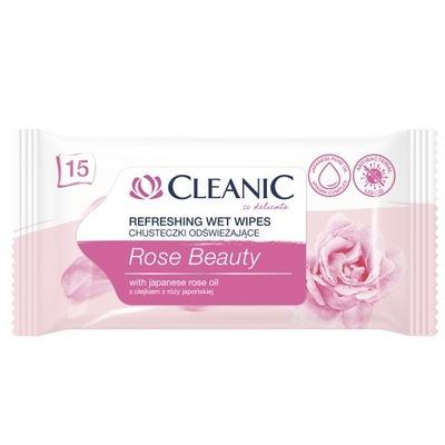 CLEANIC Rose Beauty chusteczki odświeżające 15 szt