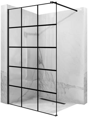 Ścianka prysznicowa BLER-1 BLACK NANO 110x195 REA