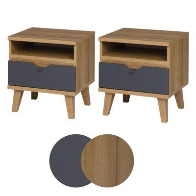 Шкаф, прикроватные Ночные BREKSIT с ящиком 2 штук