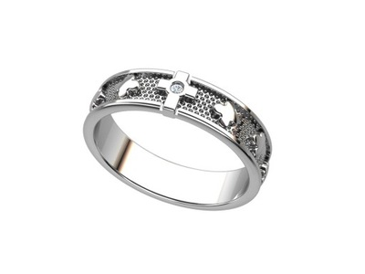 Różaniec na palec, obrączka srebro pr. 925 r. 12