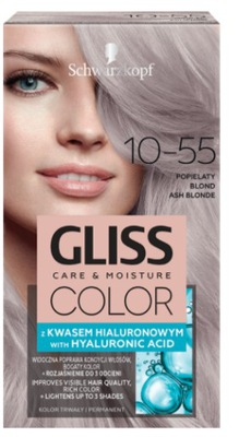 Gliss Color Farba 10-55 Popielaty Blond