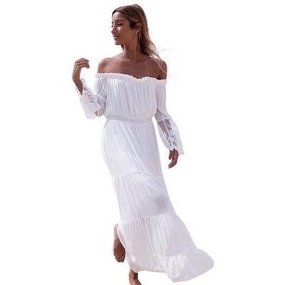 Biala Plazowa Sukienka Odkryte Plecy Dluga S 6618755759 Oficjalne Archiwum Allegro