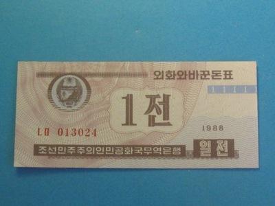 Korea Płn. Banknot 1 Chon P-23 UNC 1988
