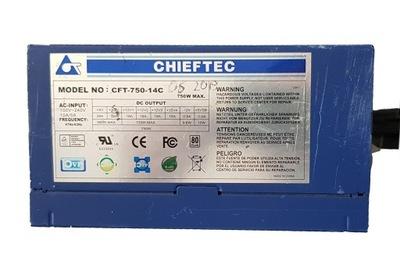 Zasilacz ATX CHIFTEC 750W MODULARNY USZKODZONY