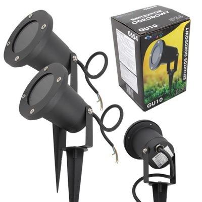 2x REFLEKTOR ogrodowy WBIJANY szpikulec GU10 LED