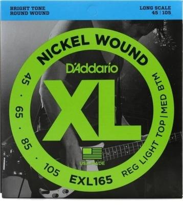 D'ADDARIO EXL165 45-105 Struny do basu niklowane