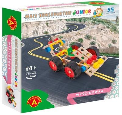 Mały Konstruktor Junior Wyścigówka Drewniana 4+