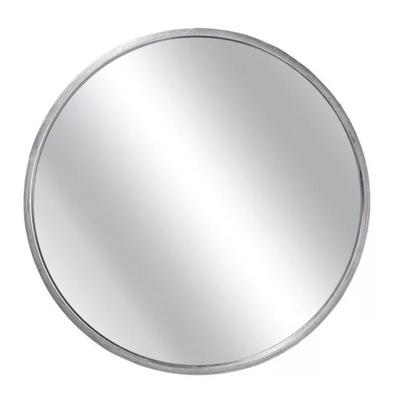 Okrúhle nástenné zrkadlo 60cm so strieborným kovovým rámom