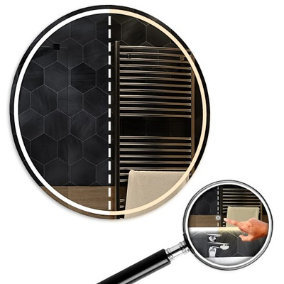 Okrúhle zrkadlo LED duálne LED 60x60 cm Touch London