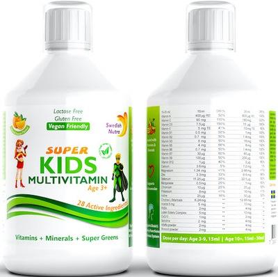 Nutra Super Kids Multiwitamina Szwedzka 500ml vege