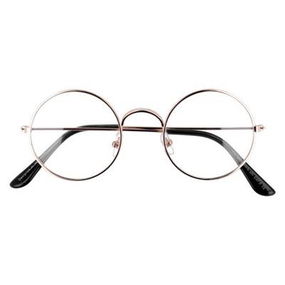Okulary zerówki DAMSKIE lenonki VINTAGE