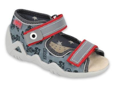 Pantofle kapcie dziecięce sandały Befado 065133 24
