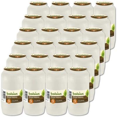 Wkłady do zniczy olejowe BOLSIUS NR 7 120h 24szt