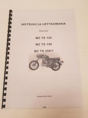 MANUAL MANTENIMIENTO MOTOCYKLA MZ TS125 TS150 T250/1