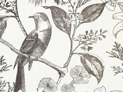 Птицы-цветы -Деревья- скандинавский Стиль , ОБОИ