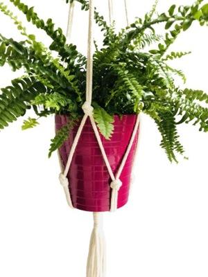 Клумба висящий шпагат makrama бохо цветы