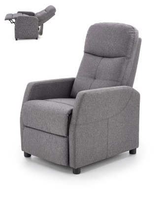 FELIPE fotel rozkładany ciemny popielaty