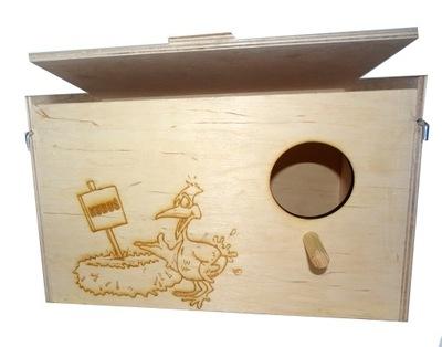 budka lęgowa dla nimfy średnich papug + GRATIS