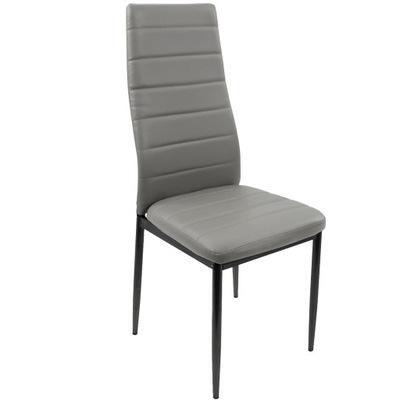 Промышленных дел Кухонные стулья 4 штук серая Экокожа