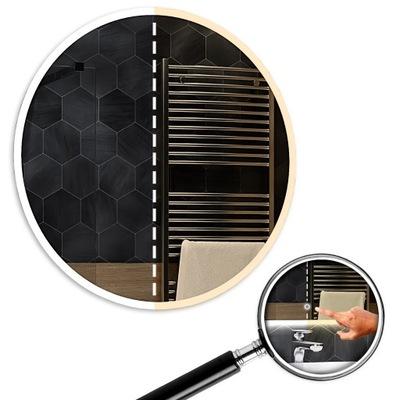 Dvojité kruhové zrkadlo LED 70 x 70 cm s dotykom Dillí