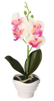 ОРХИДЕЯ В ГОРШКЕ искусственные цветы 32 СМ
