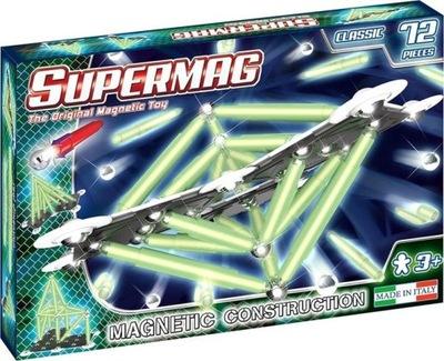 Duze Klocki Magnetyczne Supermag Classic Swiecace 9342641925 Oficjalne Archiwum Allegro