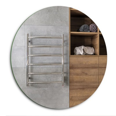 Okrúhle zrkadlo - brúsené + poľské - 100 cm