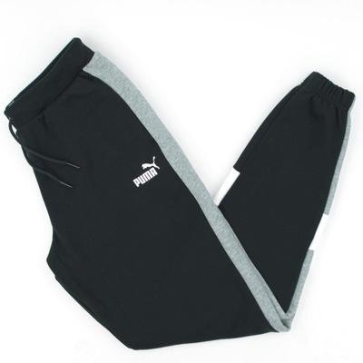 Spodnie Chłopięce Puma Dresowe Bawełniane 164