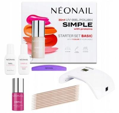 NEONAIL Zestaw Startowy Do Hybryd Simple z Lampa