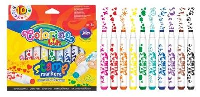Colorino flamastry stempelki pieczątki 10 kolorów