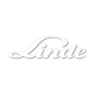 Наклейка надпись эмблема тележка LINDE до 15 см 2 шт