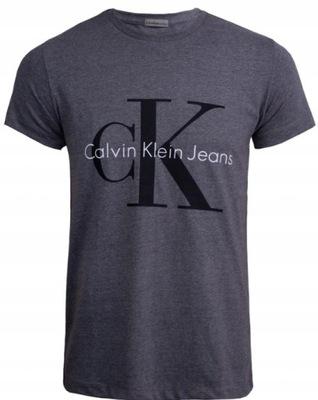Koszulka T-shirt Calvin Klein CK jeans r L SZARA