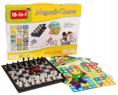 18w1 Zestaw gier planszowych szachy warcaby i inne