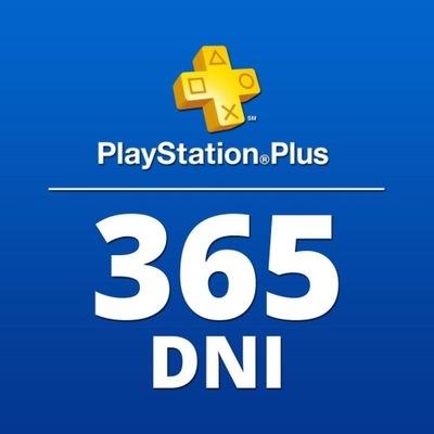PLAYSTATION PLUS 365 DNI ROK 12 MIESIĘCY PS4 KOD