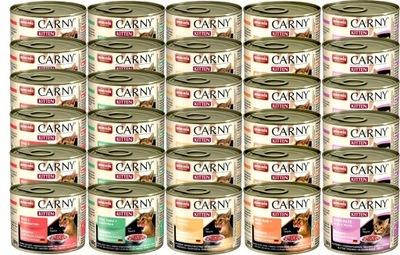 Animonda CARNY KITTEN корм микс 5 Вкусов 200 г x30