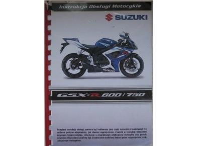 SUZUKI GSX-R 600K6 POLSKA ИНСТРУКЦИЯ GSX-R750K6 PL