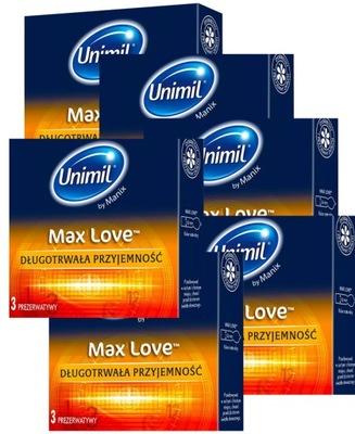 Prezerwatywy MAX LOVE UNIMIL 51 szt.