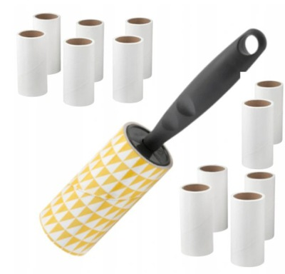 IKEA 12x Rolka +wałek do CZYSZCZENIA ubrań sierści