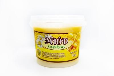 Мед рапсовый свежий мед натуральный  1 кг