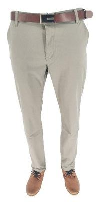 Spodnie Męskie Jasne Klasyczne Wizytowe Proste W40