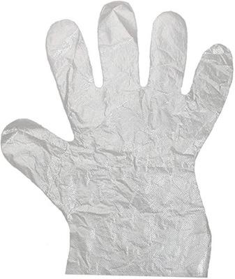 перчатки ПЛЕНОЧНЫЕ ПНД сильные 10mik разм. 8 -? 100шт.