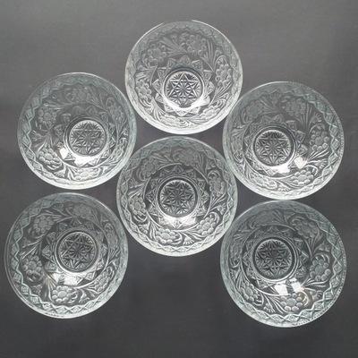 Salaterki, prasowane szkło. Judaica