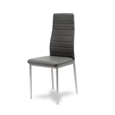 Krzesło KRZESŁA EKOSKÓRA szare nogi szare 704B