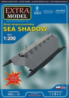EXTRA MODEL_Okręt Sea Shadow_ 1:200_WYPRZEDAŻ