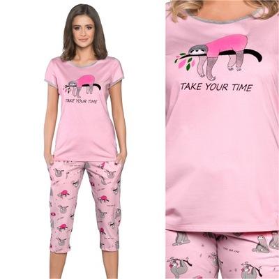 Italian Fashion Lalima piżama kr. 3/4 roż XL