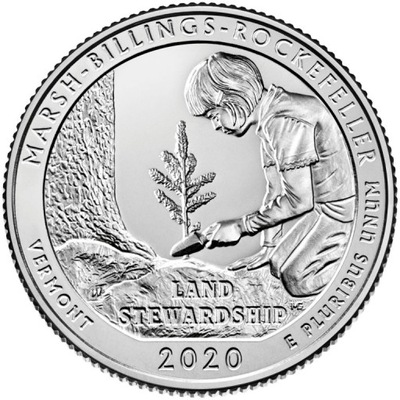 25 c Parki USA Marsh-Billings-Rockefe 2020 D nr 54